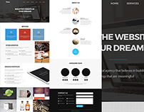 Dream One Page Web Template (Freebie)