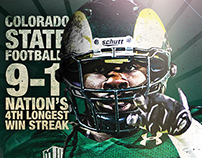 Colorado State Football Never Satisfied Poster