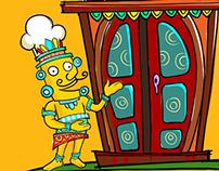 Restaurant App illustration..