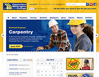 Carpenters Millwrights College Website Design and Devel
