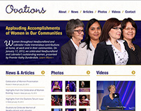 Ovations Website Design Concept