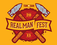 Real Man Fest - T-shirt Design