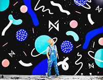 Galaxy Mural for Studio NX