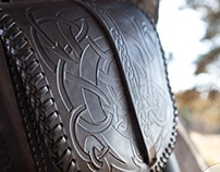 Viking runestone style ornament