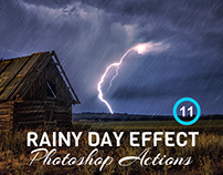 11 Rainy Day Effect Photoshop Actions