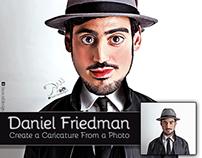 Daniel Friedman Caricater
