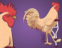 Deek A'raj (The crippled rooster)
