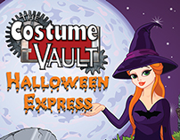 Costume Vault/Halloween Express Postcards