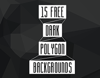 15 free dark polygon backgrounds