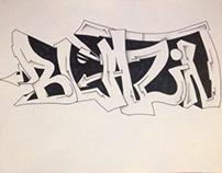 Blazin graffiti