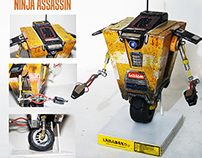 CLAPTRAP: handmade scrap material robot from borderland
