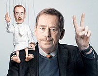 Václav Havel Puppet - Anniversary of Velvet Revolution
