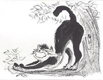 der winzige elefant und die schwarze katze