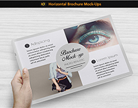 Realistic Horizontal Brochure Mock-Up