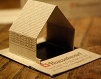 Hausabwart, składana wizytówka letterpress