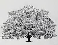 Trees - pointillism