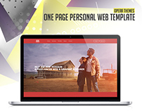 One Page Personal Web Template