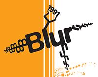 Blur typography Poster