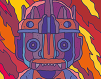 Mexican Abstract illustration set project