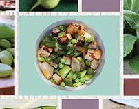 Panzanella croccante primaverile - Recipe moodboard