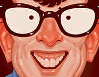 """Buddy Holly"" ©2014 Tanner Griepentrog"