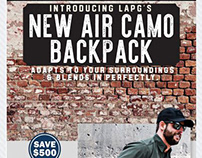 "April Fools Email Marketing... New ""Air Camo Backpack"""