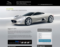 Microsite and inner page for car website