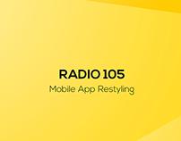 RADIO 105 App Restyling