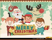 Free Vectors: Christmas Cartoon Characters