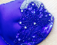 Blue belly dancing bra