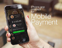 iPhone App concept for mobile payment
