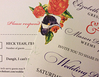 Weems Wedding Invitation