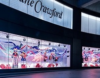 "Ribbonesia × Lane Crawford 2014 w display ""FANTASIA"""