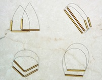 Minimalist Metal Tube Jewelry - Brass Series