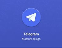 Telegram Material design for Android (2014)