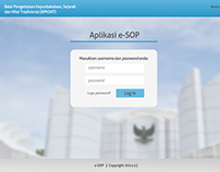 Mock-up for e-SOP