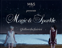 M&S Magic & Sparkle Christmas 2014 campaign