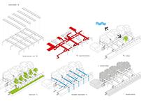 axonometric infographics in architecture