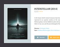 IMDB Movie Widget