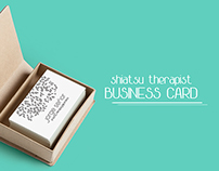 Shiatsu Therapist Business Card