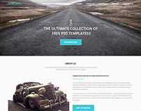 UIBrush Simple Landing Page Free PSD Template