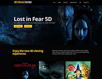 4D Movie Center Red Raion - Web Layout Design