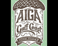 AIGA Gulf Coast Membership Drive Postcard