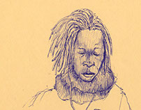 Drawings in NYC subway - part 02