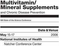 Multivitamin/Mineral Supplements Poster