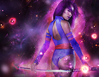 Psylocke Digital Art