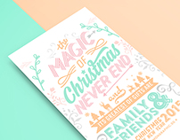 Christmas card typography 2015