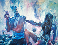"""""""Dinner Table"""", oil on canvas"""