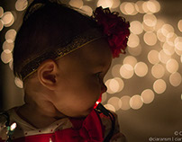 Christmas Lights Bokeh Baby