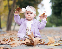 Fall Baby Photos in the Leaves